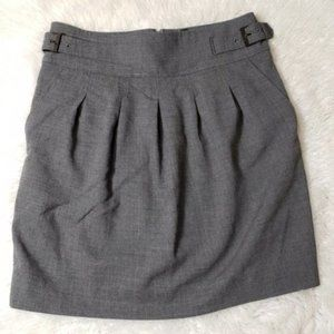 BCBGMAXAZRIA High Waisted Pleated Basic Grey Skirt
